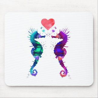 Seahorse, Seahorse in love Mouse Pad