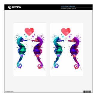 Seahorse, Seahorse in love Skin For Kindle Fire
