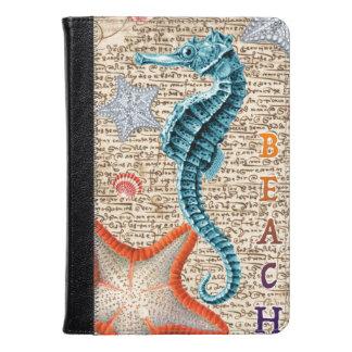 Seahorse Shabby Kindle Case