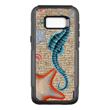Beach Themed Seahorse Shabby OtterBox Commuter Samsung Galaxy S8  Case
