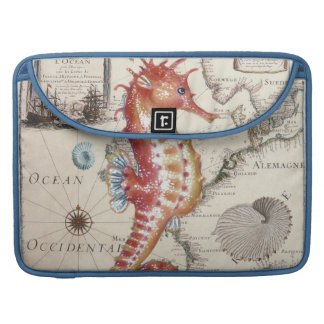 Seahorse Shabby Sleeve For MacBook Pro