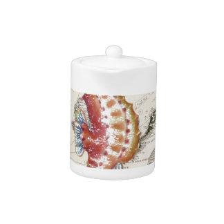 Seahorse Shabby Teapot