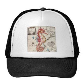 Seahorse Shabby Trucker Hat