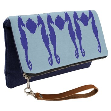 Beach Themed Seahorse & Shell Clutch