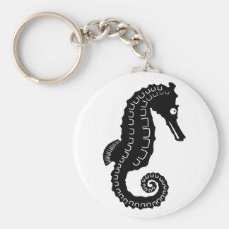 Seahorse Silhouette Key Chain