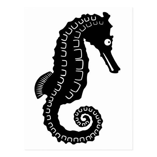 Seahorse Silhouette Postcard