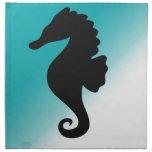 Seahorse Silhoutte fresco y natural Servilletas De Papel