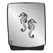 Seahorse Silver Backpack