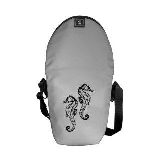 Seahorse Silver Messenger Bag