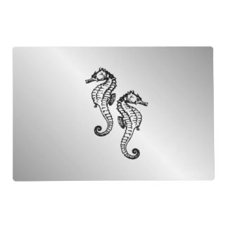 Seahorse Silver Placemat