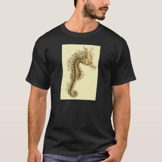 Seahorse Skeleton Illustration T-Shirt