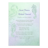 Seahorse Sparkle Wedding Invitation