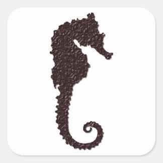 seahorse square sticker