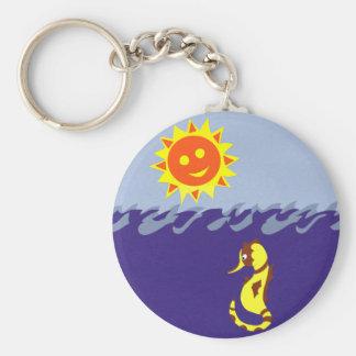 Seahorse Sun y arte caprichoso del dibujo animado Llaveros Personalizados