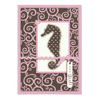"""Seahorse Swirl Invitation 5"""" X 7"""" Invitation Card"""