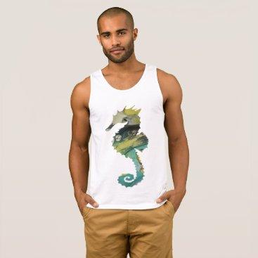 Beach Themed Seahorse Tank Top
