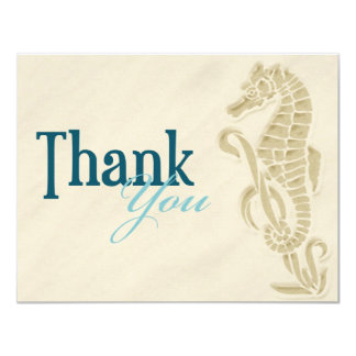 Seahorse Thank You Note Personalized Announcements