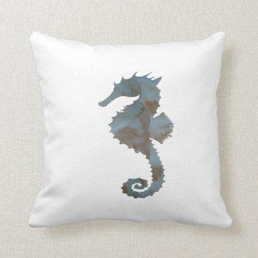 Beach Themed Seahorse Throw Pillow