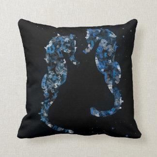seahorse throw pillow