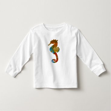 Beach Themed Seahorse Toddler T-shirt