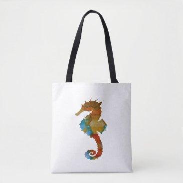 Beach Themed Seahorse Tote Bag