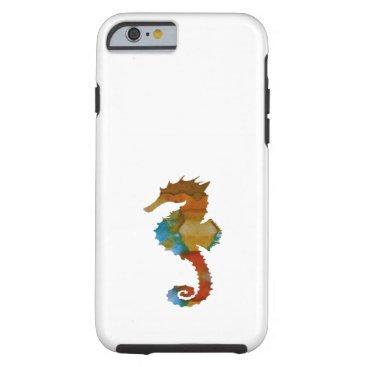 Beach Themed Seahorse Tough iPhone 6 Case