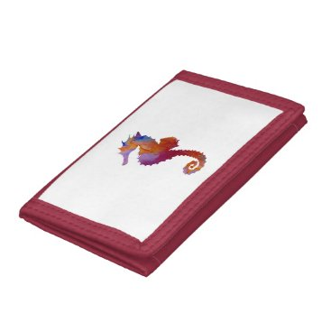 Beach Themed Seahorse Tri-fold Wallet
