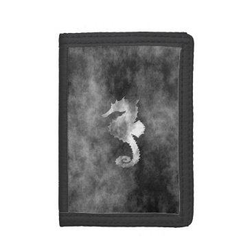 Beach Themed Seahorse Tri-fold Wallets