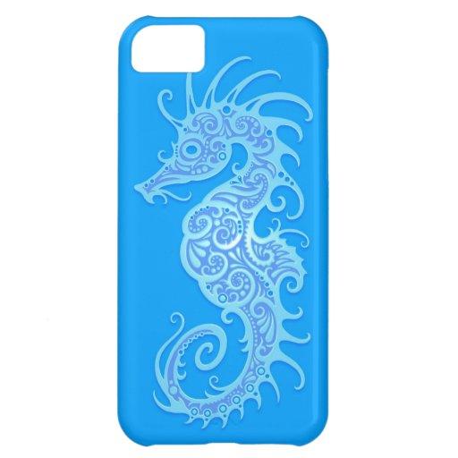 Seahorse tribal azul claro funda para iPhone 5C