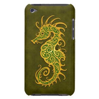 Seahorse tribal verde de oro iPod touch Case-Mate protectores