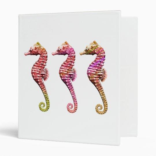 Seahorse Trio in Reds Binder