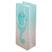 Seahorse Tropical Design Wine Bag