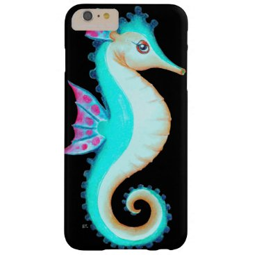 Beach Themed Seahorse Turquoise Barely There iPhone 6 Plus Case