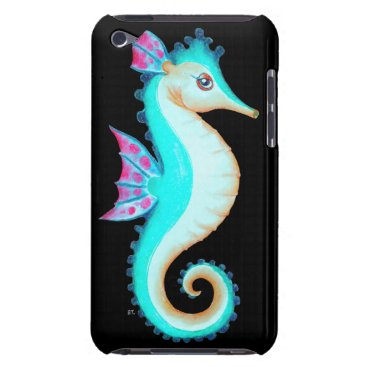 Beach Themed Seahorse Turquoise Barely There iPod Case