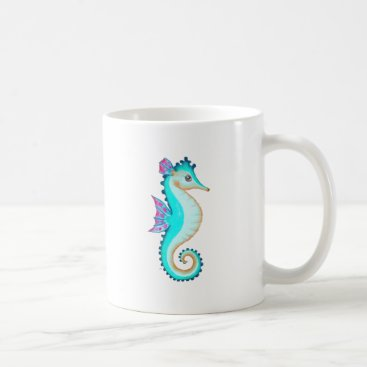 Beach Themed Seahorse Turquoise Coffee Mug