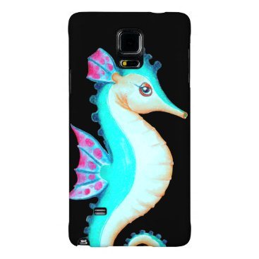 Beach Themed Seahorse Turquoise Galaxy Note 4 Case