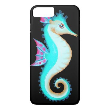 Beach Themed Seahorse Turquoise iPhone 7 Plus Case