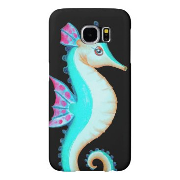 Beach Themed Seahorse Turquoise Samsung Galaxy S6 Case