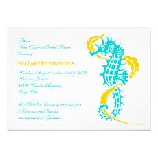 Seahorse turquoise, yellow wedding bridal shower 5