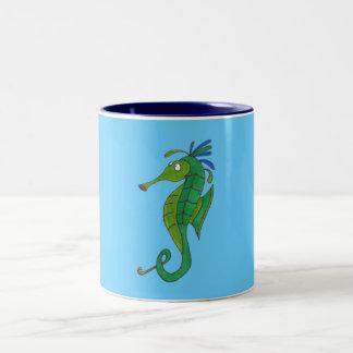 Seahorse Two-Tone Coffee Mug