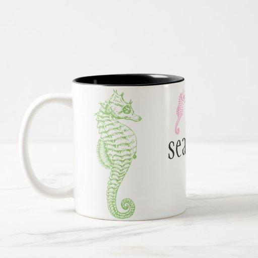 Seahorse two-tone mug   11 oz.