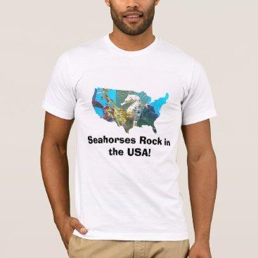 USA Themed Seahorse USA T-Shirt