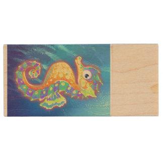 Seahorse USB Flash Wood USB 3.0 Flash Drive