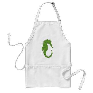 Seahorse verde del musgo delantal