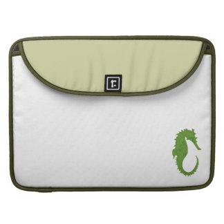 Seahorse verde del musgo fundas para macbook pro