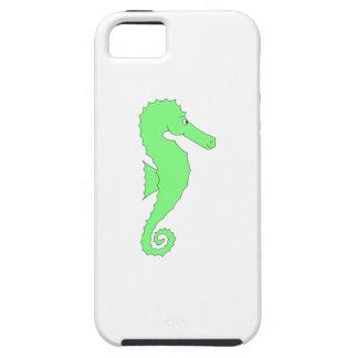 Seahorse verde en blanco iPhone 5 Case-Mate cárcasa