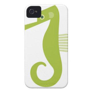 Seahorse verde iPhone 4 Case-Mate cárcasas
