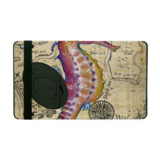 Seahorse Vintage Map iPad Cover