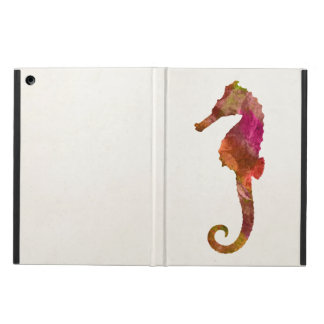 Seahorse Watercolor Silhouette Sea Horse Pink iPad Air Cases