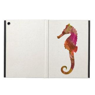 Seahorse Watercolor Silhouette Sea Horse Pink iPad Air Cover